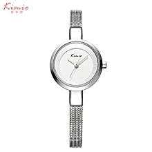 KIMIO-KMO6115 Quartz watch fashion bracelet watch fashion female form SILVER WHITE