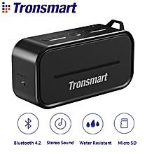 Tronsmart Element T2 Bluetooth 4.2 Outdoor Water Resistant Speaker Portable and Mini Speaker- Black WWD