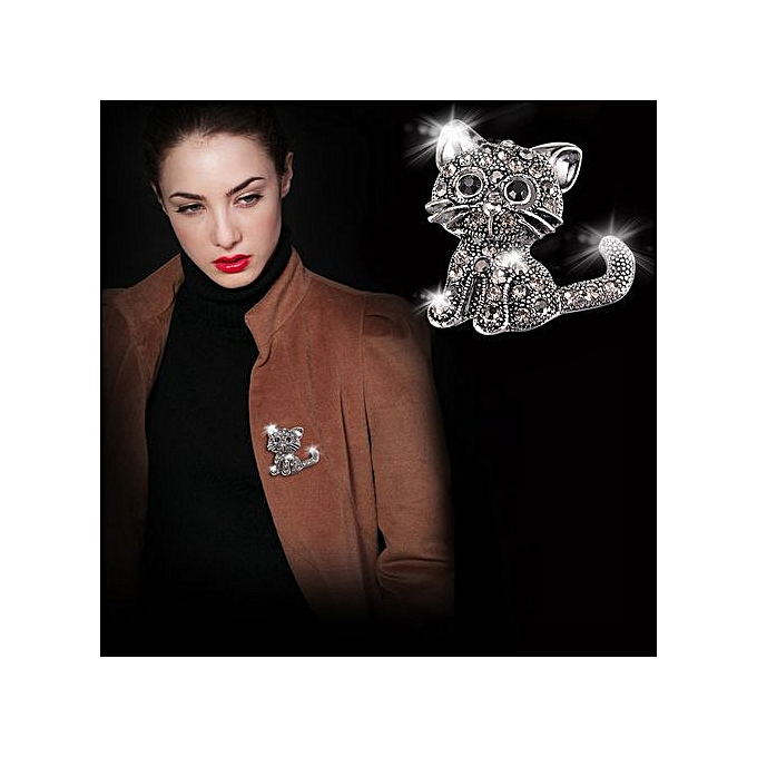 3f371019eb539 Cute Little Cat Brooch Pin Up Jewelry For Women Suit Hats Clips Corsets  Brooches.