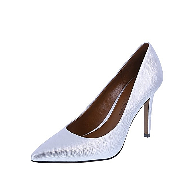 7a237163b931 Christian Siriano for Payless Women s Habit Pointed Pump - Textured Silver