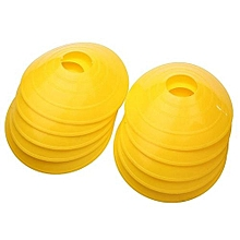 10x Soccer Disc Cone Saucer Football Cross Training Sports Space Marker Landmark(Yellow)