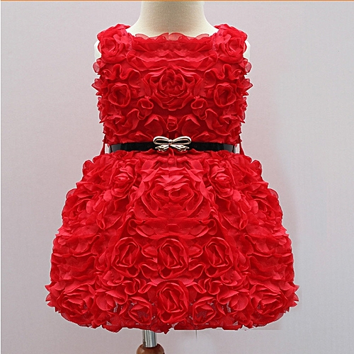 c57717d27 Fashion Flower Girls Dress Summer Baby Girl For Wedding Girls Party ...