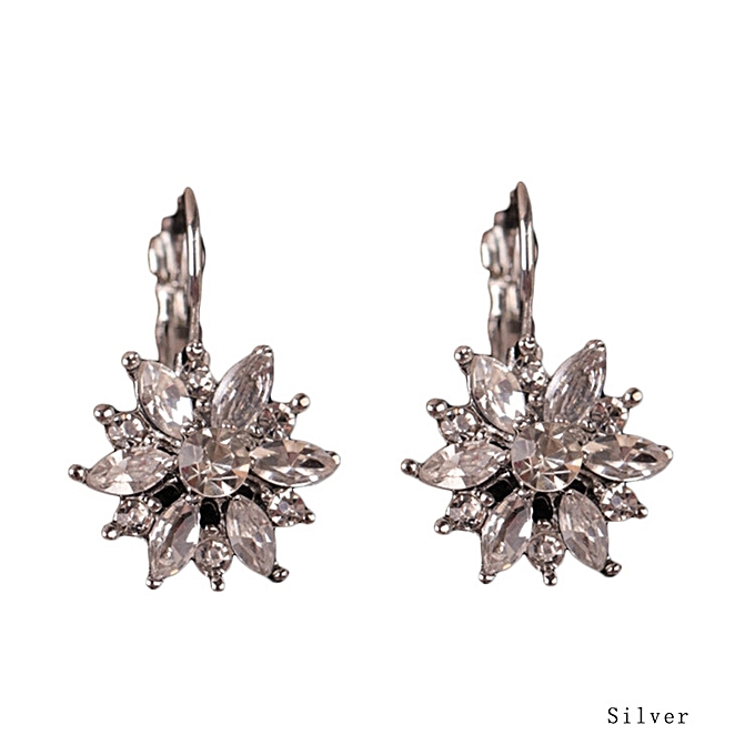 Alloy Earrings Korean Snowflake Crystal Fashion Hypoallergenic Earring Explosion