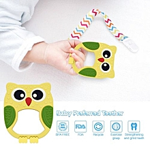 Yellow Color BPA Free Food Grade Silicone Teether Pendant Nursing Necklace Teething Baby Teethers