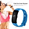 V66 IP67 Waterproof Universal Heart Rate Monitor Bluetooth Fitness Smart Band blue