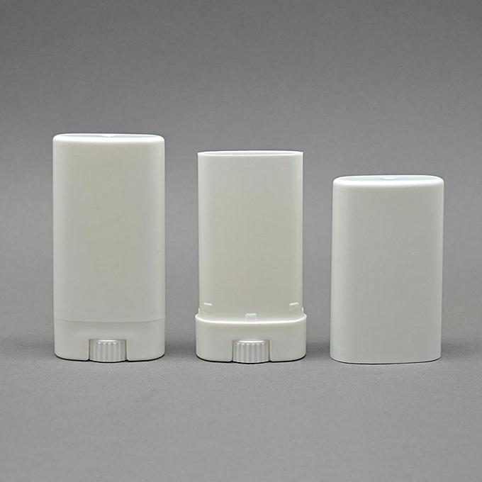 TOPWEL 10pcs 15ml Deodorant White Containers Empty Plastic Oval Lip Balm  Tubes