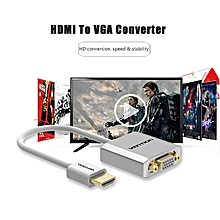 Vention HDMI to VGA Adapter Converter Cable Male to Female Audio & Micro USB port power for XBOX PS3 active HDMI VGA converter ULINE