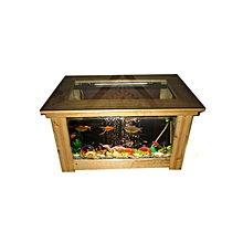 Coffee Table Aquarium with Mahogany wood appearance