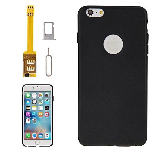 best service 78612 362d6 4 In 1 (dual Sim Card Adapter + Tpu Case + Tray Holder + Sim Card Tray  Holder Eject Pin Key) For Iphone 6s Plus