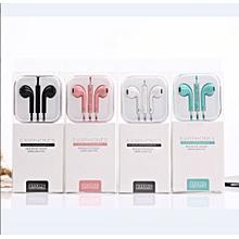 Earphones Headphones  In Ear With  Mic 3.5 mm   Pink