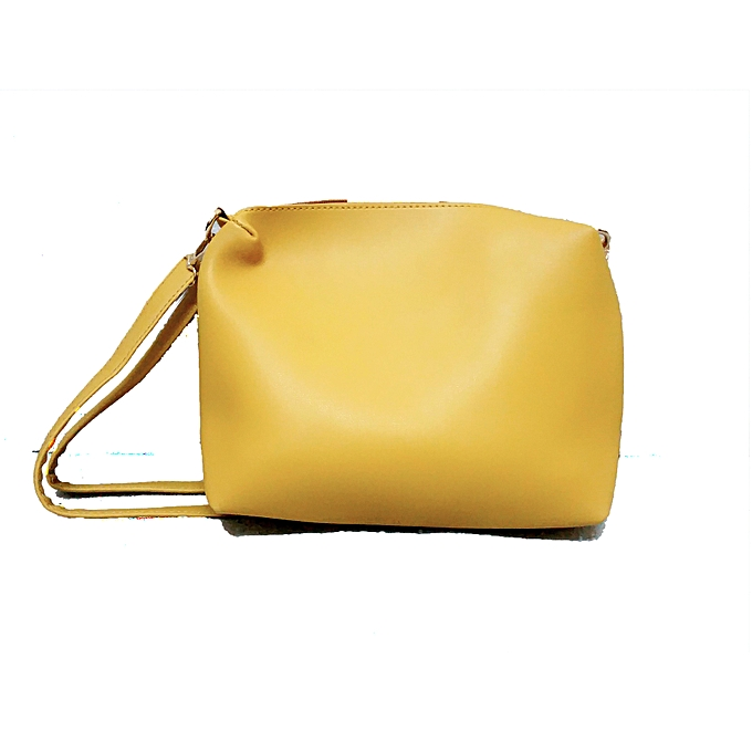 b1a0dce5b554 Generic Yellow 3 In 1 Genuine Leather Handbags   Best Price
