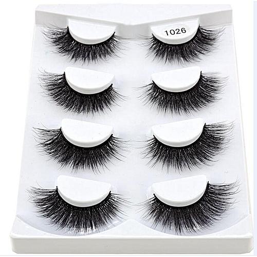 c7dddf76325 Generic New 2/4/7 pairs natural false eyelashes fake lashes long makeup 3d  mink lashes eyeextension mink eyelashes for beauty 06(4 Pairs 1026)