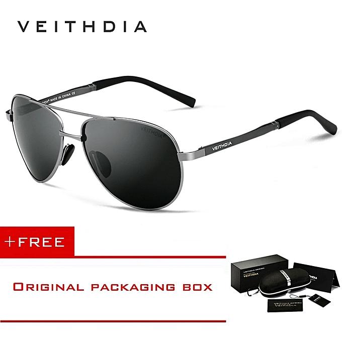 VEITHDIA Men s Sunglasses Brand Designer Pilot Polarized Male Sun Glasses  Eyeglasses For Men 1306 e71a9d34920