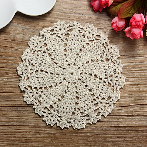 Buy Universal 16cm Cotton Yarn Hand Crochet Lace Doily Placemat