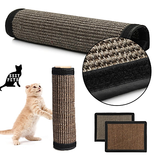 Pet Cat Sisal Hemp Pad Scratching Post Toy Board Furniture Protected Mat 40 30cm Dark