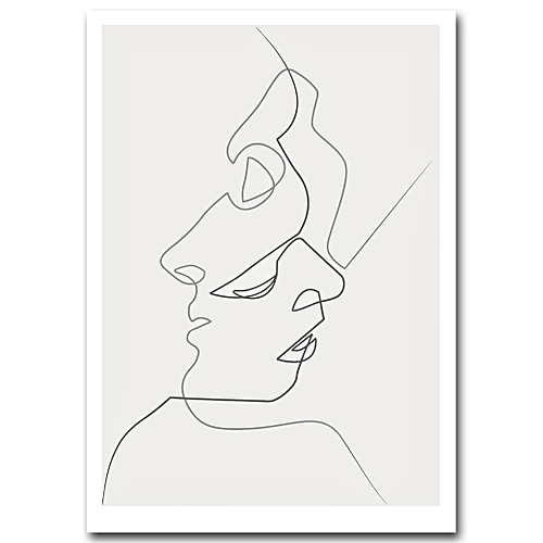 Drawing Smooth Lines Canvas : Buy generic one line drawing face sketches quibe