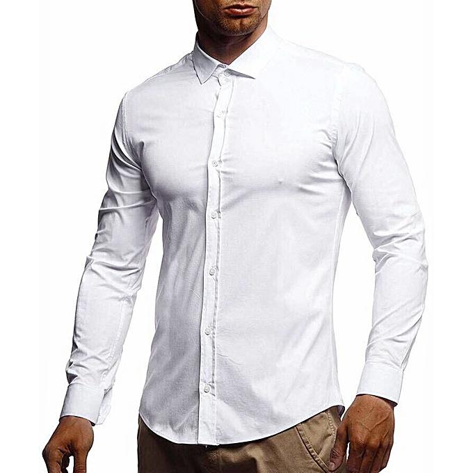 sale retailer 3d387 0b5de Men Pure Color Pocket Long Shirt Long Blouse Top