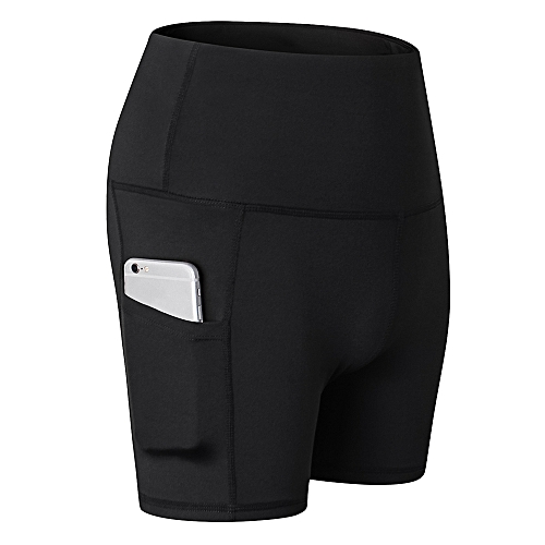 214345a89de Generic Women High Waist Yoga Shorts Tummy Control Workout Running Athletic  Yoga Shorts with Pocket