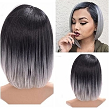Lady Fashion Bob Straight Gradient Color Short Wig