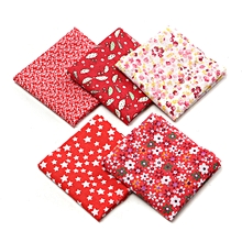 Fabric Cotton Bundles Fat Quarters Polycotton Material Florals Gingham Spots  Red