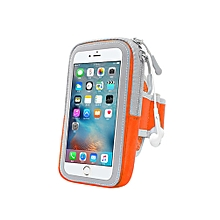 Multifunctional Outdoor Fitness Sports Arm Band Phone Holder Bag for iPhone 8-Orange
