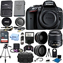 Nikon D5300 Digital SLR 24.2 MP Camera Bundle Starter