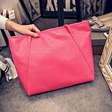 bluerdream-Women Handbag Shoulder Bag Tote Case Purse Leather Messenger Wallet Hot- Hot Pink
