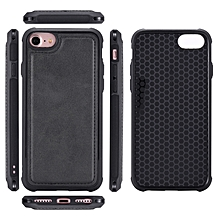 Phone Cases for Iphone 6 6S 7 8 Universal Casing Cover Magnetic Back Shell-Black