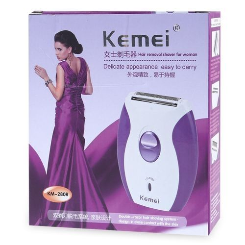 KM - 280R Mini Rechargeable Electric Hair Remover Shaver for Women