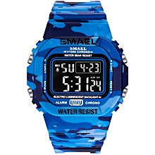 Girl's Watches camouflage waterproof and shockproof single meter