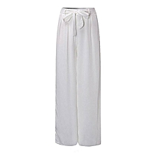 eed2254d7eb61 ZANZEA Women High Waist Palazzo Pants Wide Leg Loose Chiffon Long Pants  Trousers
