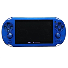 4GB Video Game Console Free 2000 Games 4.3 Inch MP5 Players Handheld Game Player Blue
