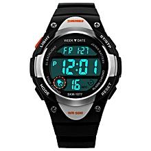 huskspo SKMEI Digital Watch Sports Watches Boy Girls LED Alarm Stopwatch Wrist Watch BK