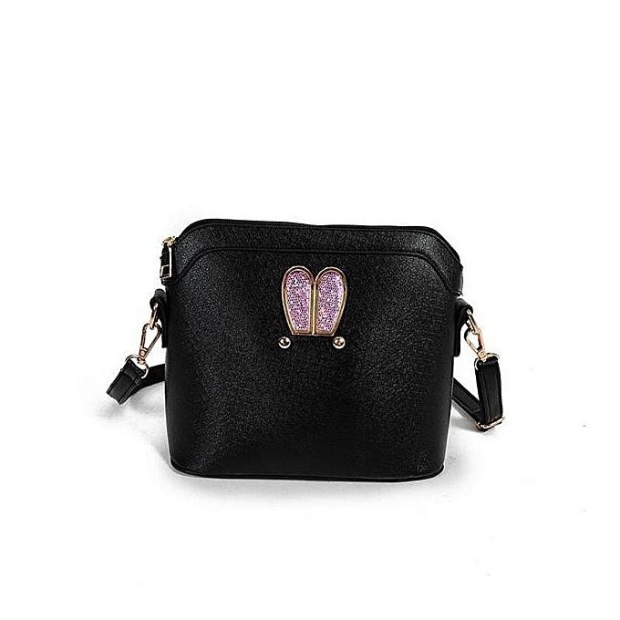 Hiamok Women Girl Rabbit ears sweet cameo shell Handbag Shoulder Messenger  Bag BK b1def73e59d97