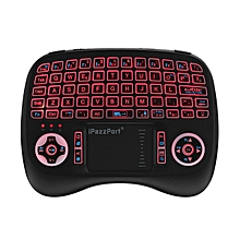 iPazzPort KP-810-21T-RGB Italian Three Color Backlit Mini Keyboard Touchpad Airmouse