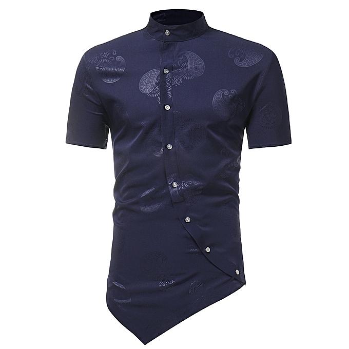 df379704eb989 AFankara Designer T Shirt for Men-Blue   Best Price