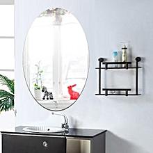 27*42cm Oval Acrylic Bathroom Waterproof Mirror Sticker