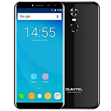 C8 3G Phablet 5.5 inch 2.5D Arc Screen Android 7.0 MTK6580A 1.3GHz Quad Core 2GB RAM 16GB ROM Fingerprint Scanner 8.0MP Rear Camera - BLACK