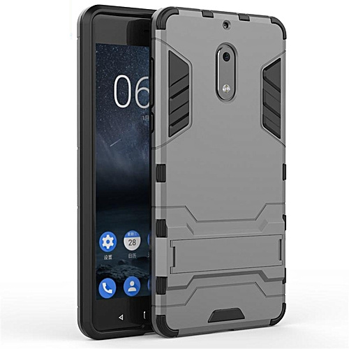 new style f0d3c c1b67 360 Degrees Ultra-thin Hard Back Cover For Nokia 6 Detachable 2 In 1 Hybrid  Armor Shell Case Dual-Layer Full Protective Shockproof Case Cover/Anti ...
