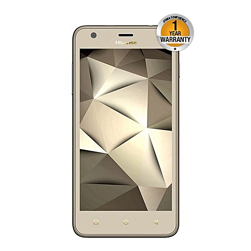 U962,8GB (Dual SIM), Gold with free back cover