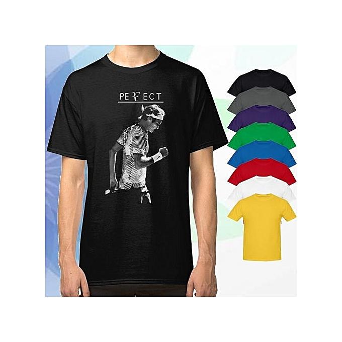 3c215f7b Generic Roger Federer PERFECT Men Black T-Shirt Tees Clothing @ Best ...