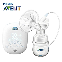 AVENT Natural Single Breast Pump Electric Automatic Massage Feeding BPA Free Convenience Baby Sucking Milk Squeeze Pump White