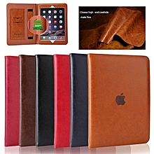 Leather Ipad Case, 360 All Fit Clamshell Solid Leather Protective Sleeve for New Magnet Ultrathin IPad / IPad Air/ Air2/IPad Pro 10.5/ Mini 1/2/3/ 4/ IPad Pro 9./ IPad 2/3/4/IPad Pro 12.9/2018 New Ipad HSL-G