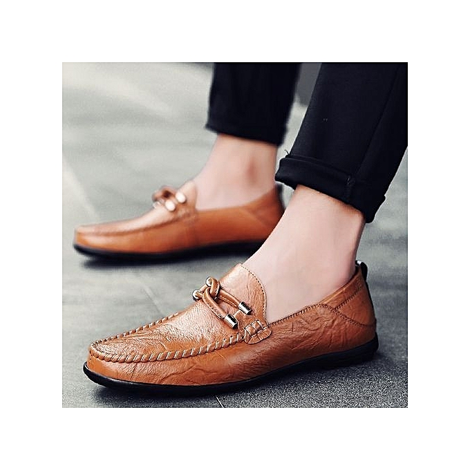 bdd8fda96 Business Dress Men Formal Shoes Wedding Pointed Toe Fashion Genuine Leather  Shoes Flats Oxford Shoes For