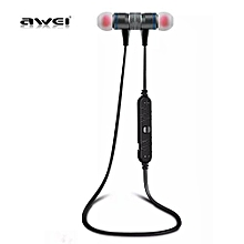 Smart Wireless Bluetooth Sports Stereo Earphone - Black