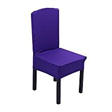 Elastic Chair Covers Home Seat Slipcover Decoration #Dark Purple