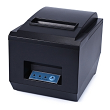 ZJ-8250 - POS Receipt Thermal Printer With 80mm Paper Rolls High-speed Printing - Black