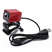 Web Camera Digital Video Webcamera HD 12.0M Pixels For Desktop PC Laptop A862 Red Shell