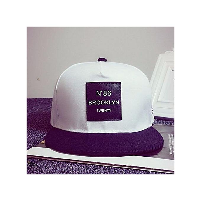 eb45f1401bce0 Fashion NEW Men Unisex Bboy Hip Hop Adjustable Baseball Snapback Hat Unisex  Cap White