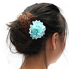 Women Charming BOHO Fancy Hair Bun Flower Clip Pin Bridal Wedding Prom Party HOT Blue